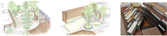 ザ・ガーデンではお庭やエクステリアの完成イメージを分かりやすくお伝えします