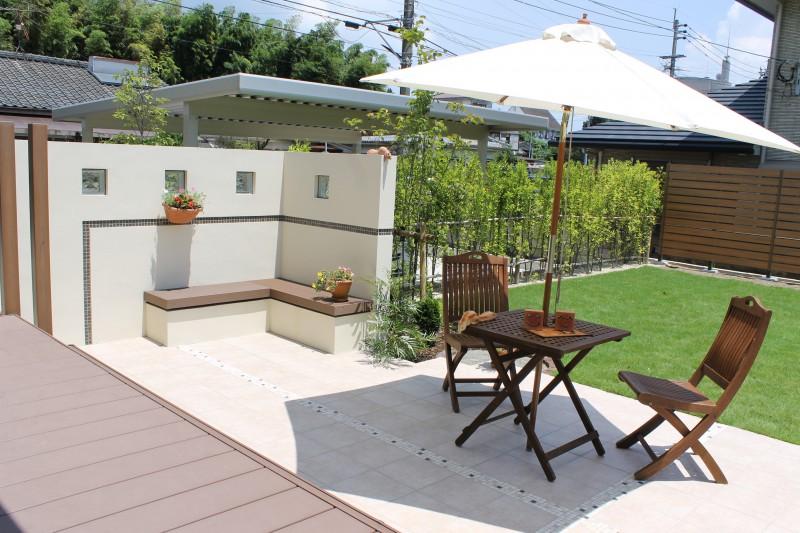 開放感のあるくつろぎのお庭