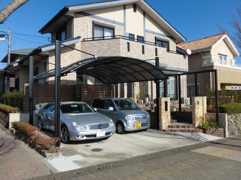 門周りをリフォーム3台目の駐車スペースを確保。