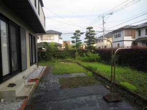 使う庭・造る庭・癒しの庭・遊ぶ庭…と駐車スペースの確保