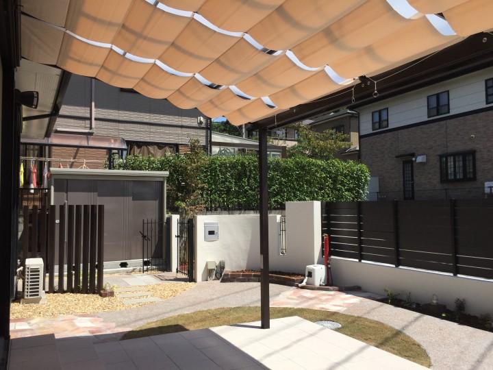 駐車場拡張と洋風の外構