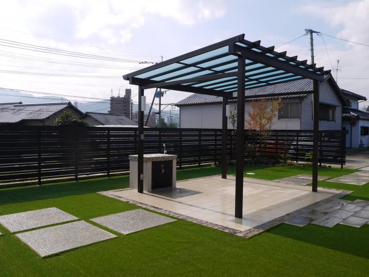 一の宮店 広いお庭のガーデン工事が完成!