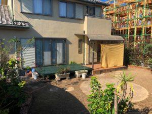 ガーデンルームと人工芝のお庭が完成しました!