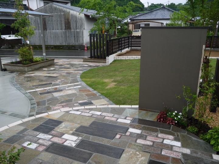 広いお庭が完成しました。